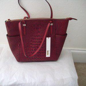 Kate Landry Croc Red Tote Bag Large NEW